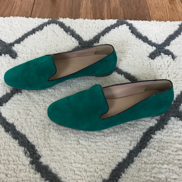45c9af56c05 J. Crew Shoes - FINAL💰EUC J.Crew Darby Loafer Emerald Green Suede